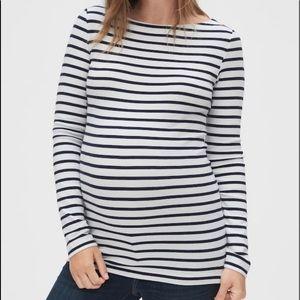 Gap Maternity stripe boatneck tee shirt; Size L